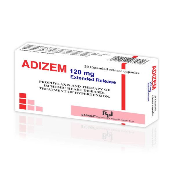 Adizem 120 - Barakat Pharma