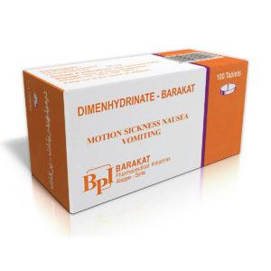Dimenhydrinate - Barakat Pharma